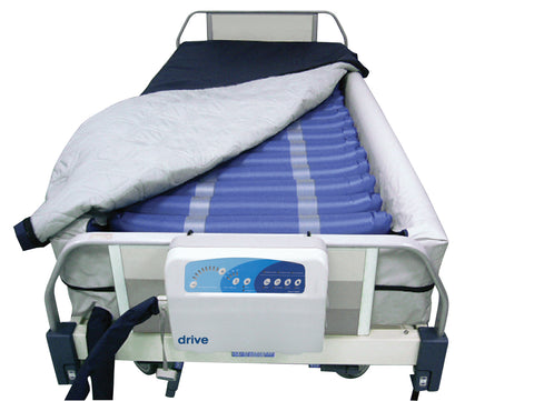 Med Aire Plus Defined Perimeter Low Air Loss Mattress Replacement System, with Low Pressure Alarm, 8""