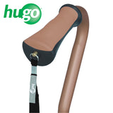 Adjustable Quad Cane for Right or Left Hand Use, Large Base, Cocoa