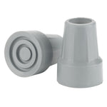 "Crutch Tips, 7/8"", Gray, 1 Pair"