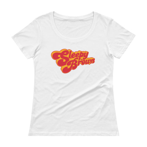 Sleepy Brown Logo Ladies' Scoopneck T-Shirt