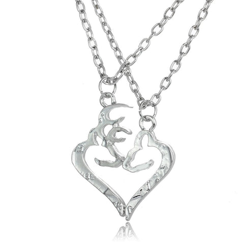 Buck & Doe Couples Necklaces 2 pc Set - MyDealznet
