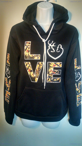 Love Buck & Doe Pocket Hoodie