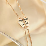 Partners In Crime Friendship Jewelry Sets Gold Plated