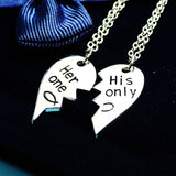 Couples Her One His Only Necklaces 2pc