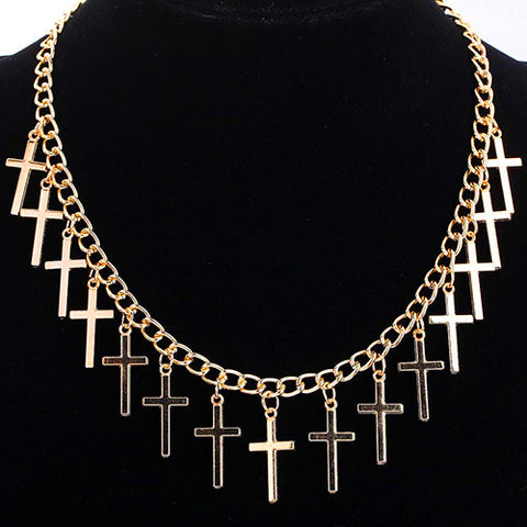 Gold Plated Cross Necklace - MyDealznet