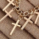Gold Plated Cross Necklace *US Delivery 3-5 Days - Dealznet