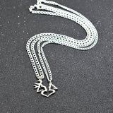Buck and Doe Necklaces Thick Chain 2 pc Set