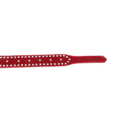 Red Suede Rhinestone Collar & Leash
