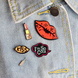 Cool Fashion Enamel Pins Badges