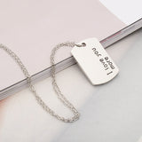 """I love you more"" Dog Tag Necklace - MyDealznet"