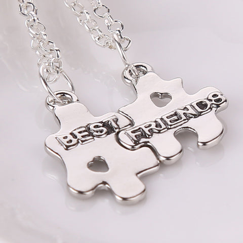 Best Friends Puzzle Necklaces 2 pcs - MyDealznet