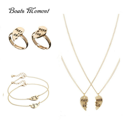 Partners In Crime Friendship Jewelry Sets Gold Plated - Dealznet