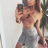 Lace Up Suede Skirt - MyDealznet