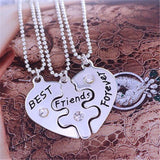Best Friends Forever Heart Puzzle Necklaces 3 pcs*US Delivery 3-5 Days - Dealznet