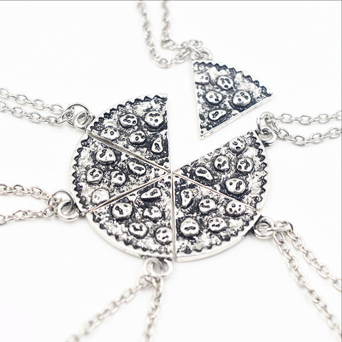 Pizza Friendship 6 Necklace Set***Quick Delivery US and CA 3-5 days