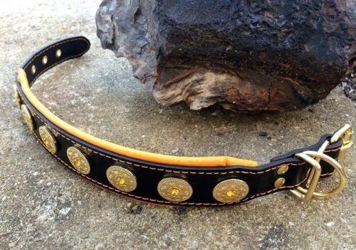 Hand made leather dog collar with unique design