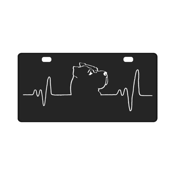 My Cane Corso Heart Beat License Plate