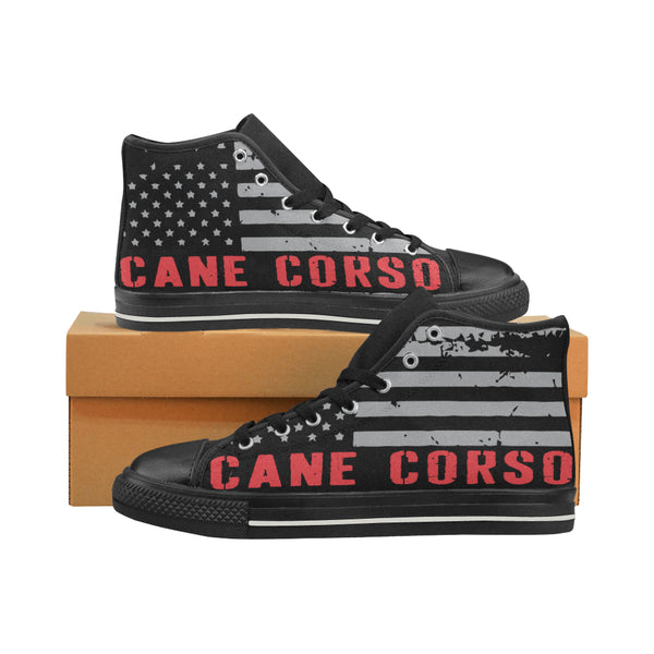 Cane Corso American Flag Men Shoes