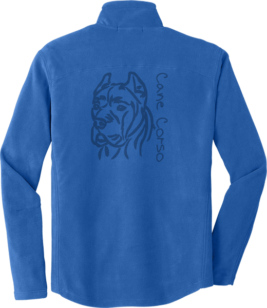 Mens Cane Corso Laser Etched Fleece Jacket Cropped