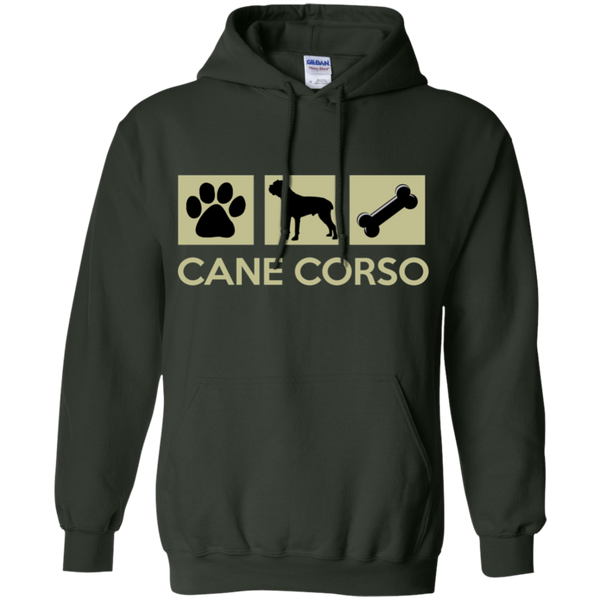 Paw Print, Cane Corso, Bone  Pullover Hoodie