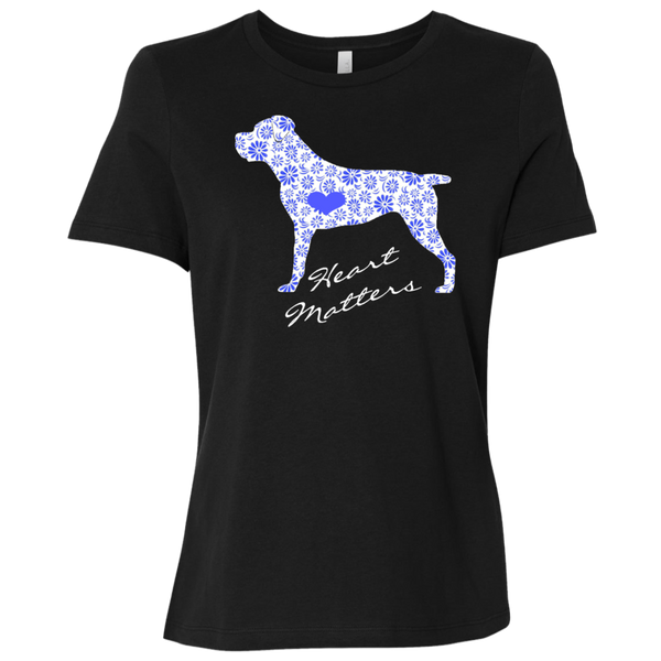 Heart Matters Blue Flower Relaxed Lady's T-Shirt