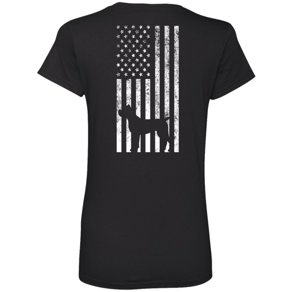 Cane Corso USA Ladies' V-Neck Tee