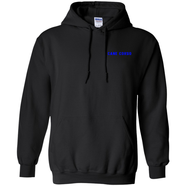 US Flag Cane Corso Blue Pullover Hoodie