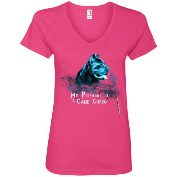 My Patronus Cane Corso Ladies' V-Neck Tee