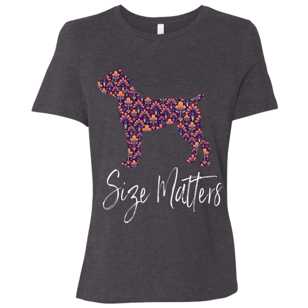 Size Matters Abstract Ladies' Relaxed T-Shirt