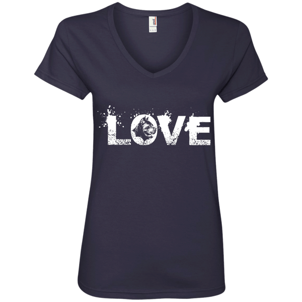 Love Cane Corso Ladies' V-Neck Tee