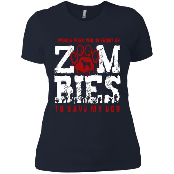Cane Corso Zombies Next Level Ladies' Boyfriend Tee