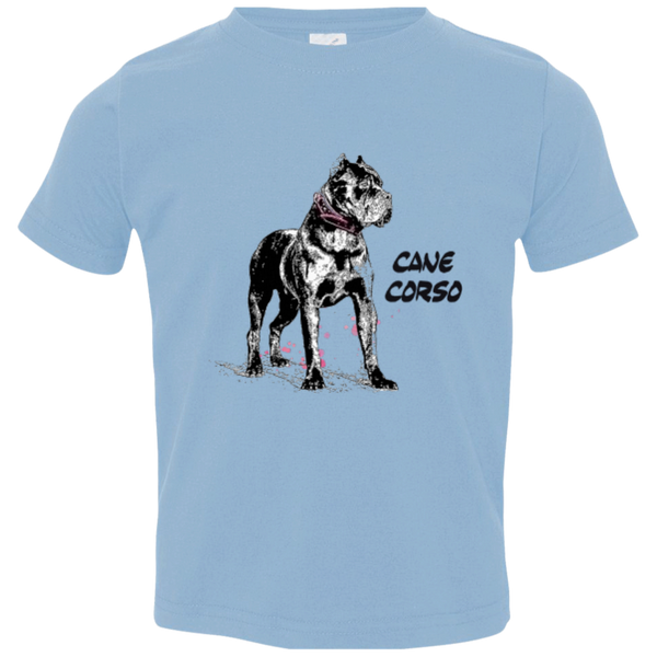 Cane Corso Crop Girls  Rabbit Skins Toddler Jersey T-Shirt