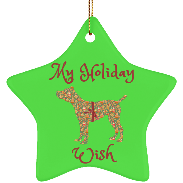 My Holiay Wish Ceramic Star Ornament