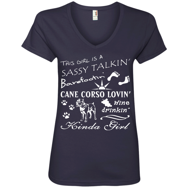 Corso Lovin' Kinda Girl Ladies' V-Neck T-Shirt