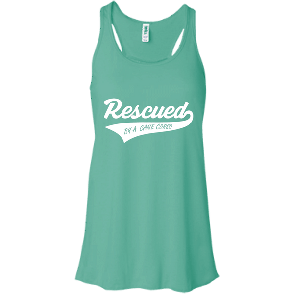 Rescued By A Cane Corso 8800 Bella + Canvas Flowy Racerback Tank