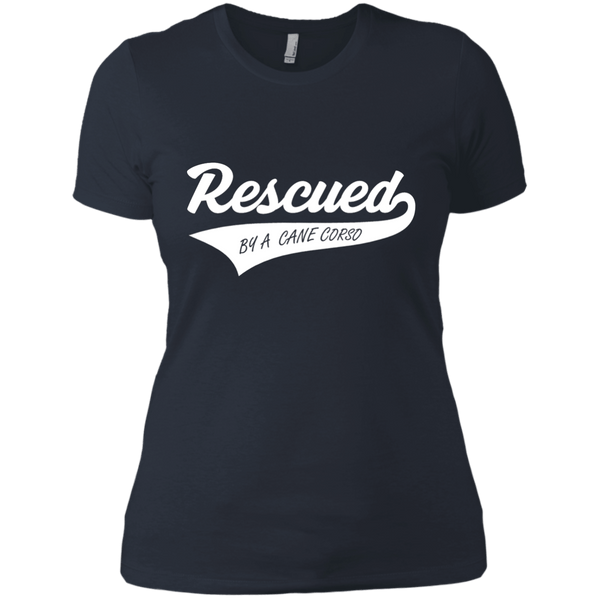 Rescued By A Cane Corso Next Level Ladies' Boyfriend Tee