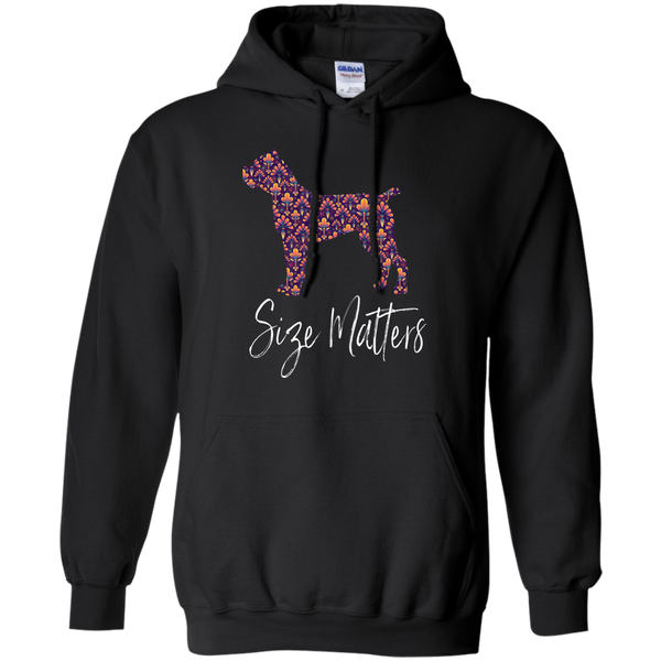 Size Matters Abstract Pullover Hoodie