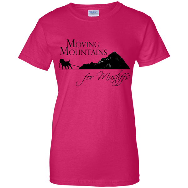 Moving Mountains For Mastiffs Gildan Ladies' 100% Cotton T-Shirt