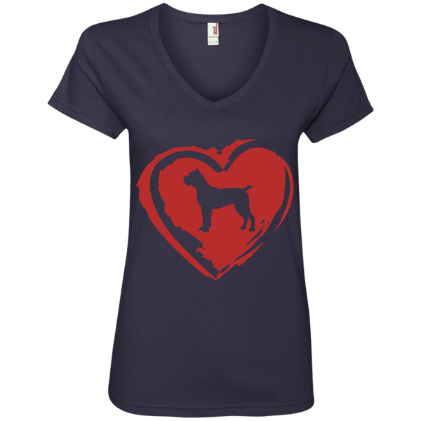 Cane Corso Love Ladies' V-Neck Tee