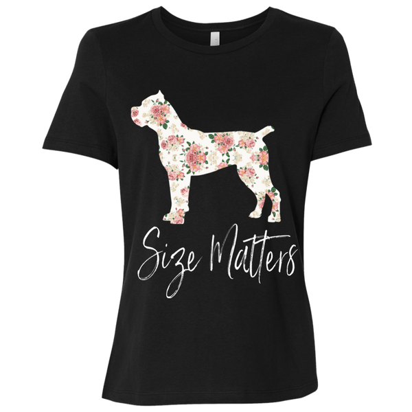Size Matters Floral Ladies' Relaxed Jersey T-Shirt