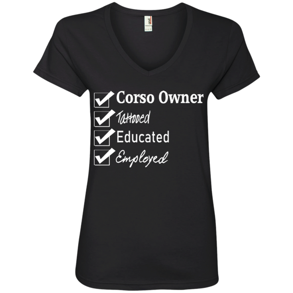 Corso Owner Checklist Ladies' V-Neck T-Shirt