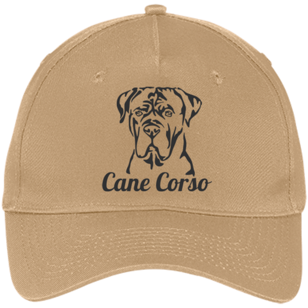 Cane Corso Flop Port & Co. Five Panel Twill Cap