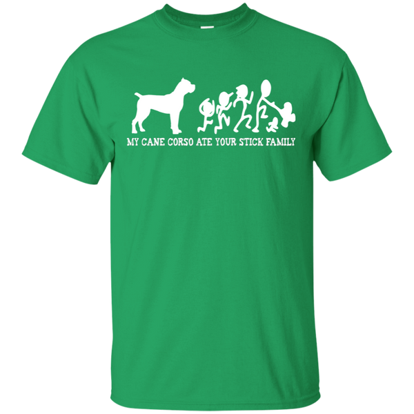 My Cane Corso Ate Your Stick Family Cotton T-Shirt