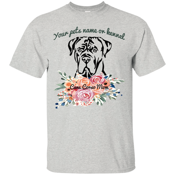 Custom Cane Corso Mom Flop Cotton T-Shirt