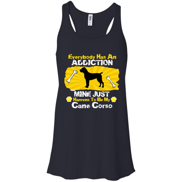 Cane Corso Addiction Canvas Flowy Racerback Tank