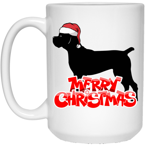 Merry Christmas Cane Corso 15 oz. White Mug