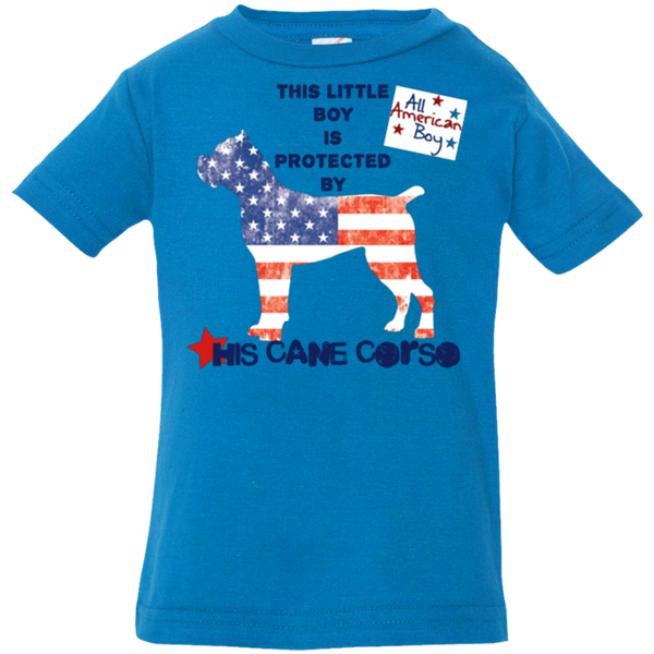 American Boy Protect Infant Toddler  T-Shirt