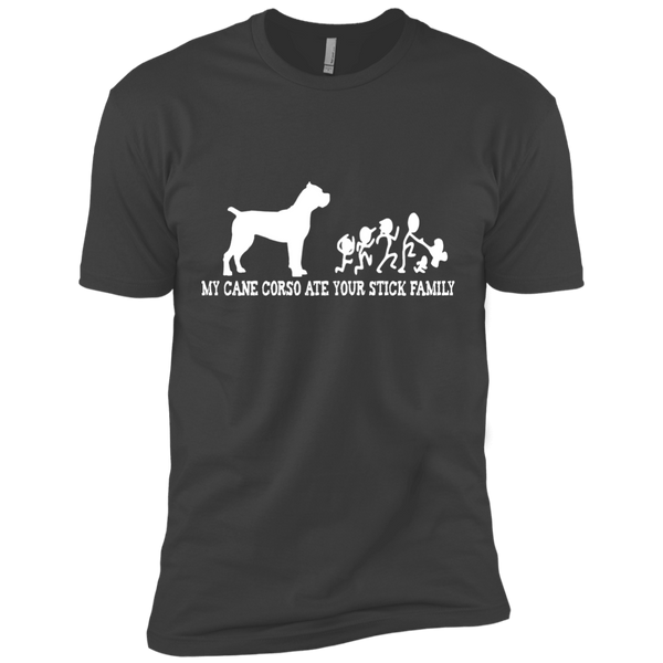 My Cane Corso Ate Your Stick Family Men's Short Sleeve Tee