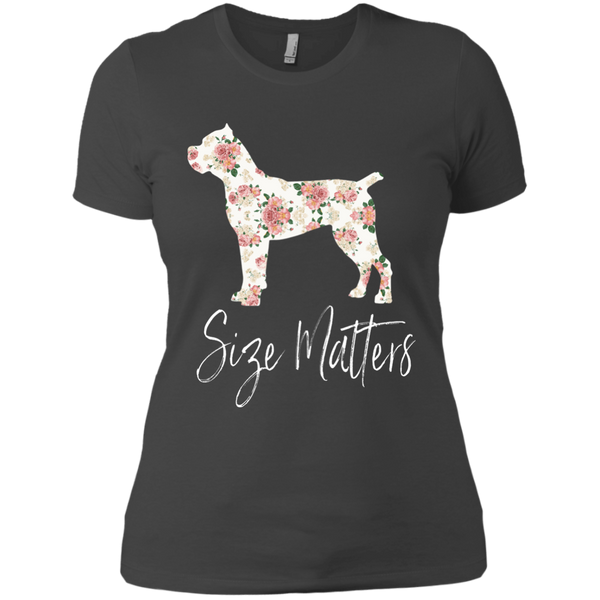 Size Matters Floral Ladies' Fitted T-Shirt