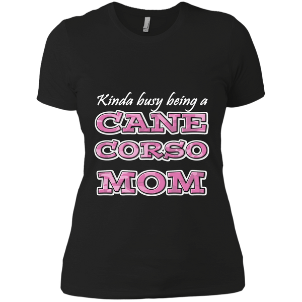 Busy Cane Corso Mom Fitted T-Shirt